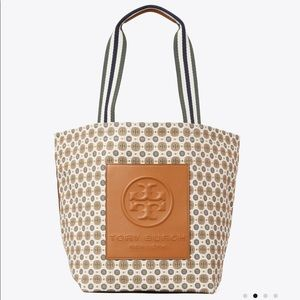 Tory Burch GRACIE PRINTED CANVAS TOTE BAG